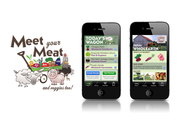 Mobile App Design for Meet Your Meat – and veggies too!